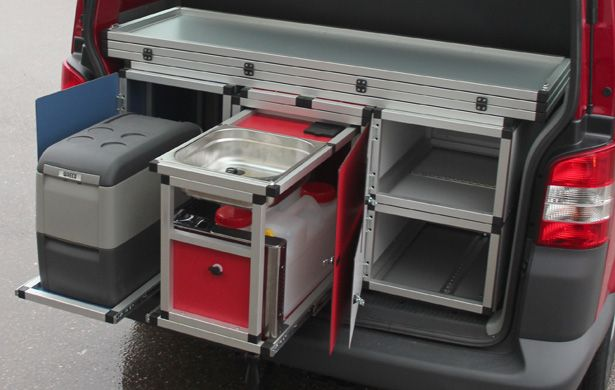 Could use Hardigg field computer cases with the slide-out racks for this camp module concept.