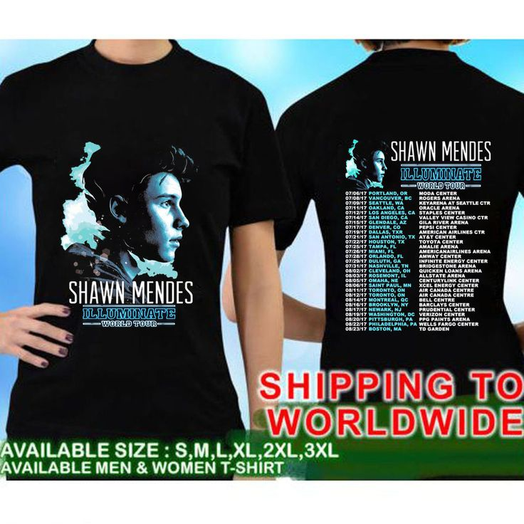 Shawn Mendes Illuminate World Tour Dates 2017 Tee T - Shirts S - 3XL Size GAD01 | Clothing, Shoes & Accessories, Unisex Clothing, Shoes & Accs, Unisex Adult Clothing | eBay!