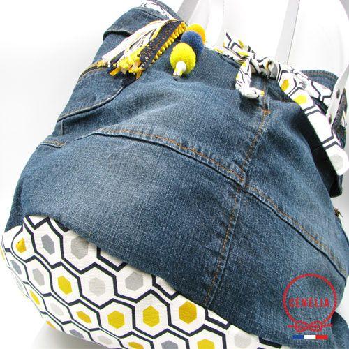 Sac à main en jean fabriqué en France par Cénélia