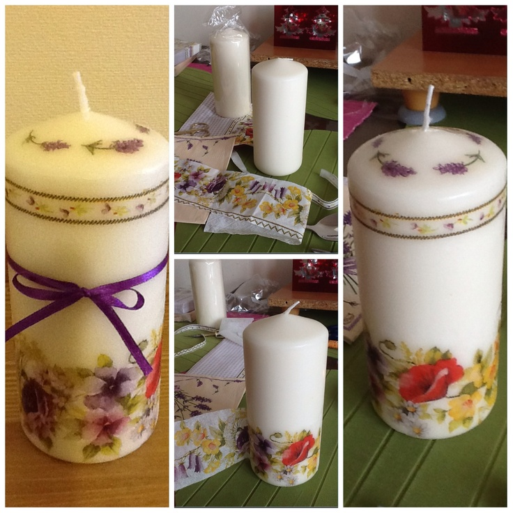 Candle Decoupage