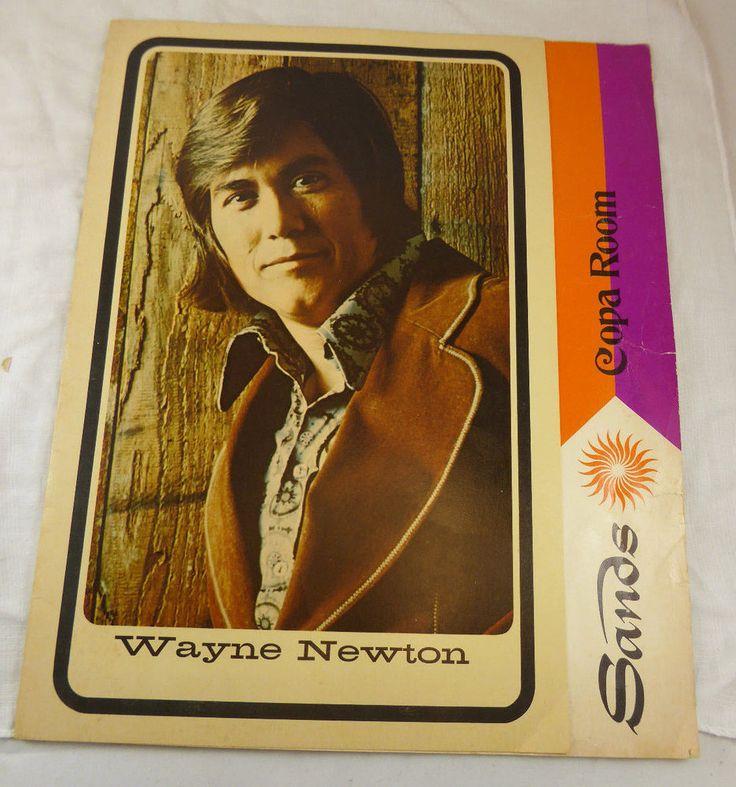 VINTAGE 1970's~HOTEL SANDS~COPA ROOM- WAYNE NEWTON-LAS VEGAS,NV MENU  | eBay