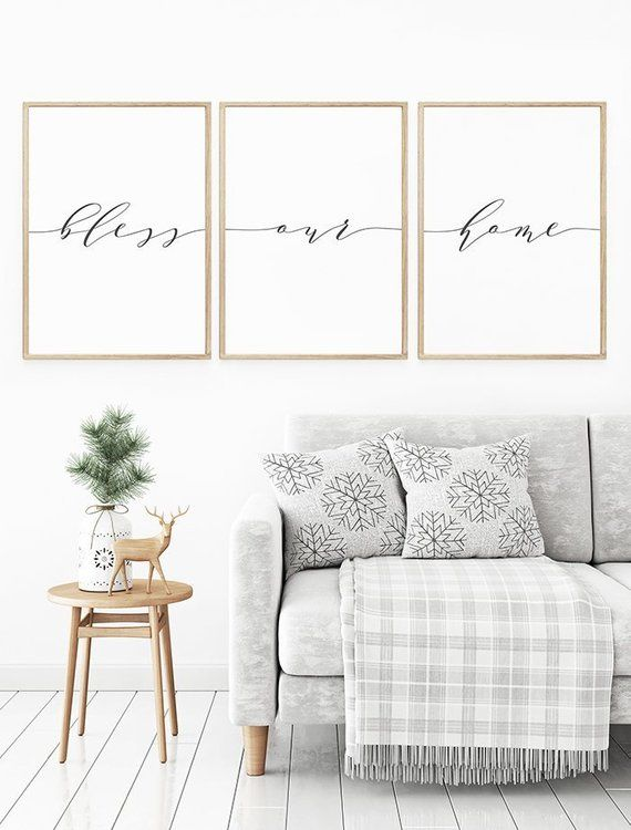 Bless Our Home Print Prints For Living Room Bless Our Home Etsy Wall Art Decor Living Room Living Room Prints Decor Small prints for living room