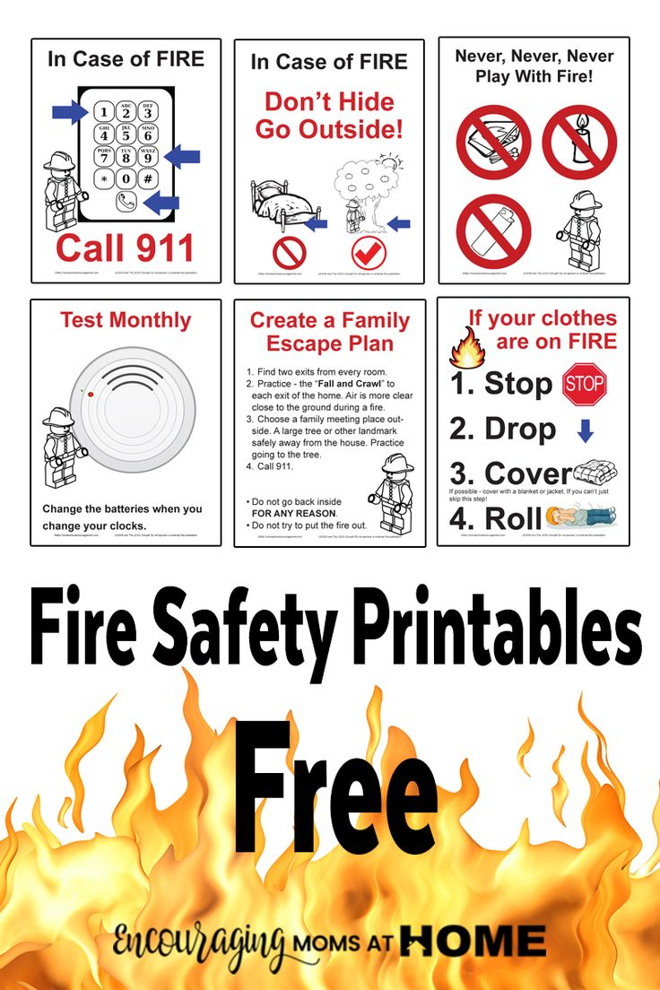 Free Fire Safety Posters with a LEGO® Theme Fire safety