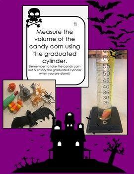 Halloween Scientific Method & Metrics Review Task Cards wi