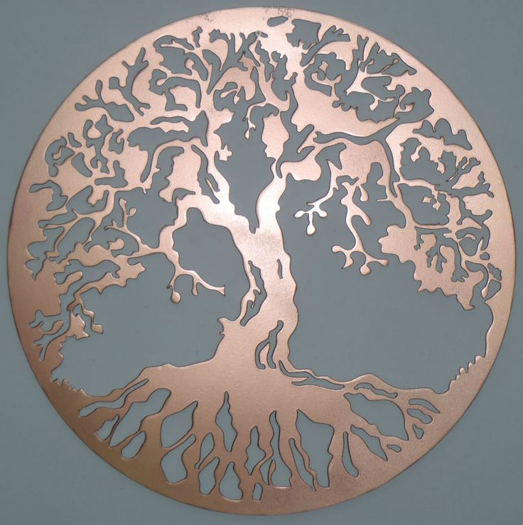 Copper wall art tree of life copper metal wall decor for Copper wall art