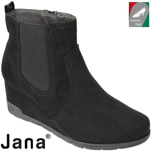 jana női bokacsizma 8-25373-29 001 fekete