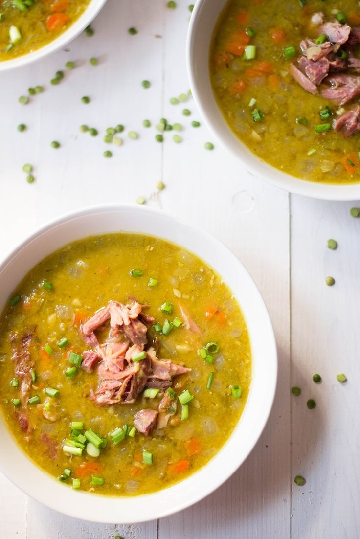 This delicious slow cooker split pea soup requires just 5 minutes of prep time and contains 21 grams of fiber and 28 grams of protein in just one bowl!