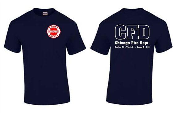Chicago Fire Department Duty T Shirt Chicago Fire Show SKU: T167