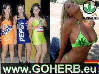 Fanta Girl , Pepsi Girl and Herbalife Bikini Girl !  www.goherb.eu