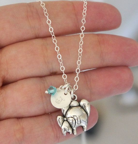 Cute Gifts for New Moms, New Mothers Gifts, New Mom Gifts, Mother Baby Necklace, Mommy Baby Jewelry, Elephant Necklace, New Expecting Mom