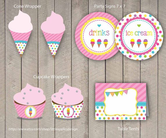Ice Cream Party Package / Ice Cream Birthday Pack / от DreamyDuck