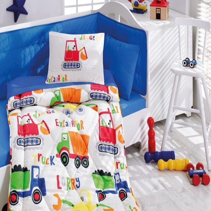 Cottonbox Bebek Uyku Seti Şantiye Mavi