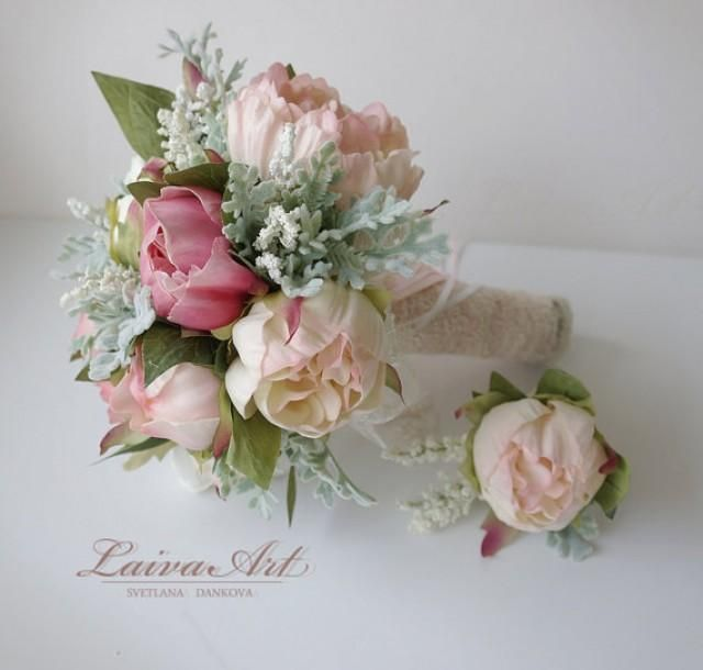 Wedding Bouquet Bridal Bouquet Small Peony Bouquet Peony Bouquet Bridesmaid Bouquet Peonies wedding bouquet for the wedding of your dreams. When your beautiful wedding is over, this incredible piece becomes a family treasure. This bouquet measures approximately 7 inches and 10