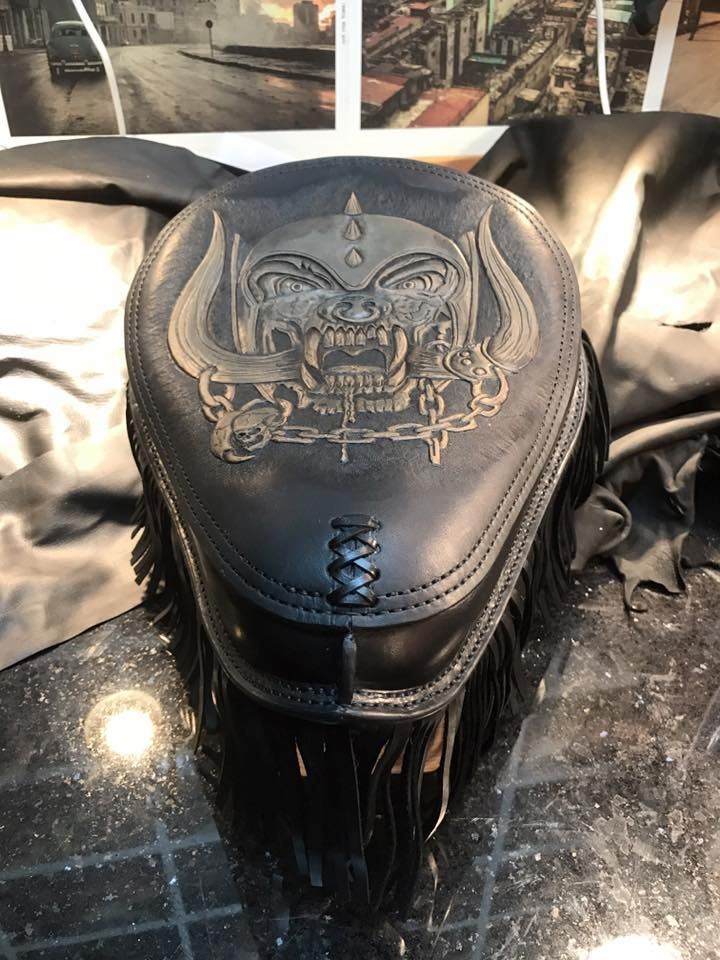 Chopper seat, motorcycle seat from Dyrvik´s Leather Sweden