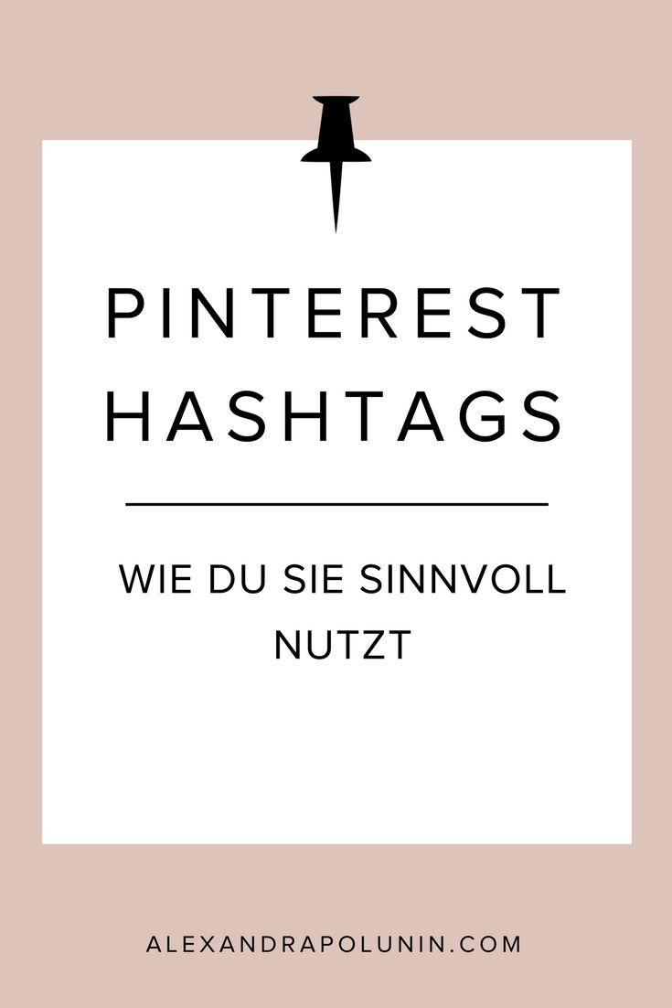 Hashtags auf Pinterest? Ja, bitte! Bis August 2017 waren Hashtags auf  Pinterest verpönt, doch nun feiern sie ihr Comeback. Wie du Hashtags nun  sinnvoll auf Pinterest nutzt, verrate ich dir in diesem Artikel #pinteresttipp