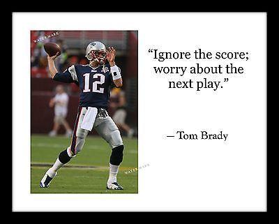 New England Patriots TOM BRADY Photo Print With Quote Football Super Bowl LI 51