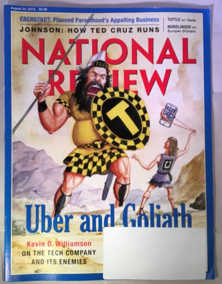 National Review Magazine August 24 2015 Uber and Goliath Planned Parenthood | eBay