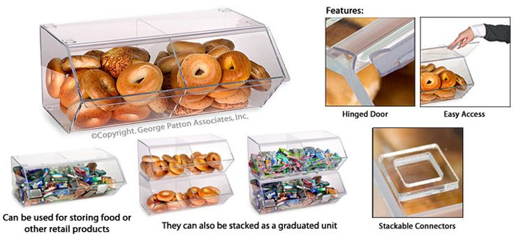 Bagel Bin: with Stacking Capability