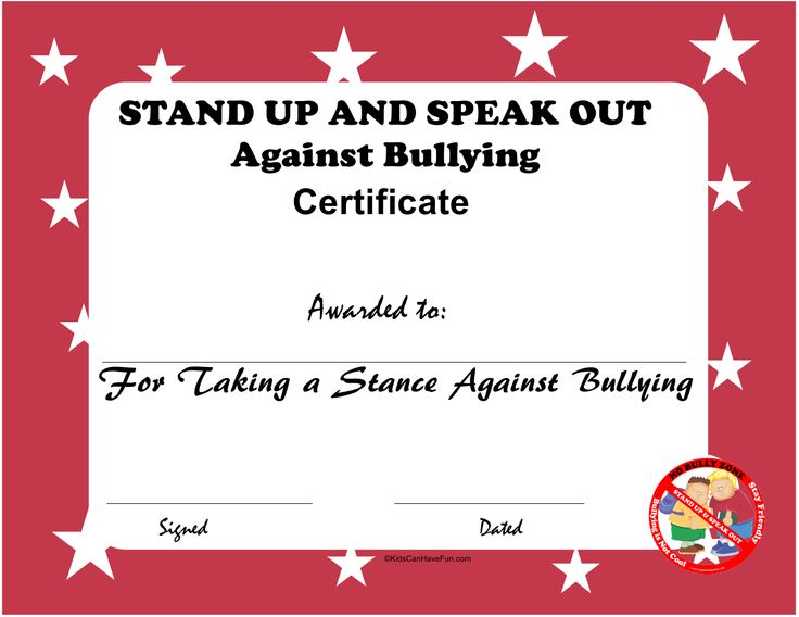 Anti Bullying Printables