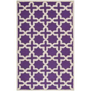 safavieh handmade moroccan cambridge purple wool rug 5u0027 x