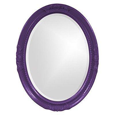 Save 89%- Howard Elliott Collection 40101RP Queen Ann Mirror, Royal Purple