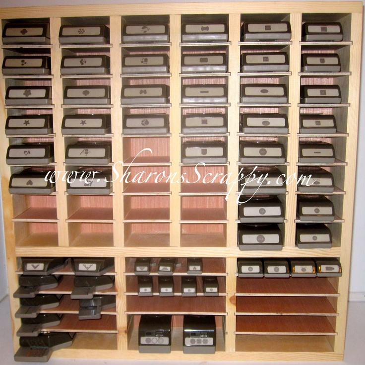 29 best images about punches storage on pinterest heart for Craft punch storage ideas