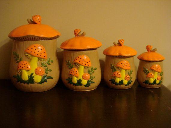 Ceramic Mushroom Kitchen Canister Set By GGTs On Etsy