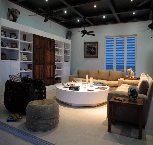 Cozy, comfortable living area at Las Esquinas B in Anguilla.