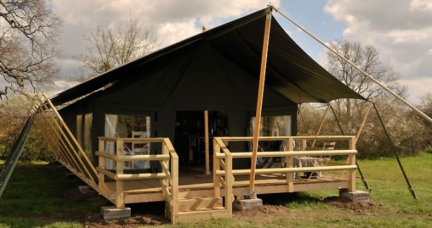 Glamping in Wiltshire at Mill Farm
