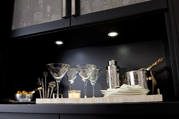 Undermount cabinet lighting looks sleek and provides functional ambient light.