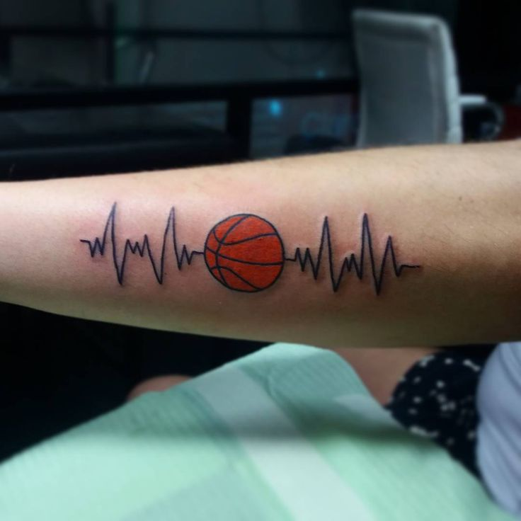 awesome Top 100 Basketball Tattoos - http://4develop.com.ua/top-100-basketball-tattoos/ Check more at http://4develop.com.ua/top-100-basketball-tattoos/
