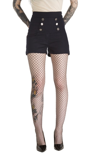Black high-waisted shorts. Need to remember to find a good pair.