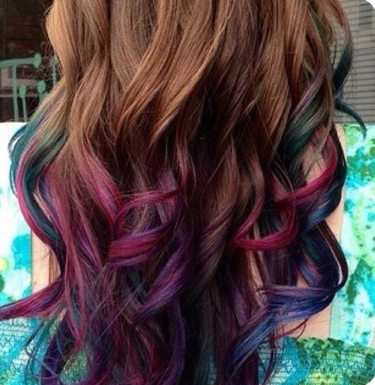Awesome dip dye ideas for curly hair ladies
