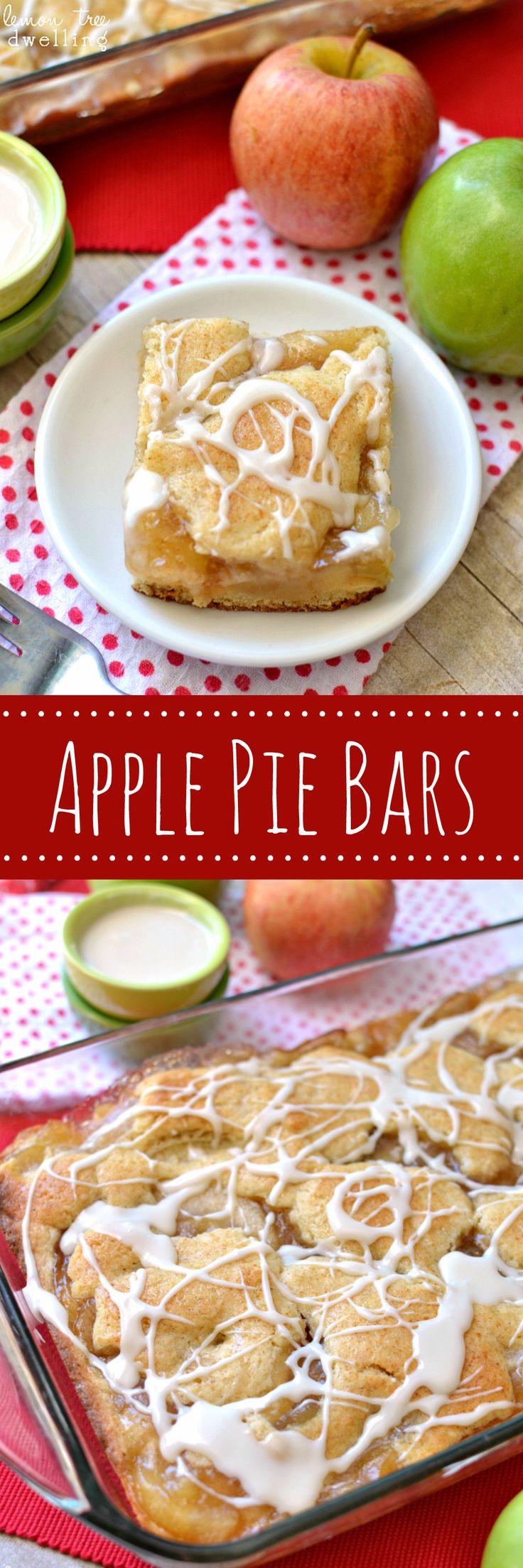 Apple Pie Bars - easy, delicious, and perfect for fall!