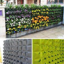 72 bolsillos jardín de plantas bolsas al aire libre Vertical greening Colgar…