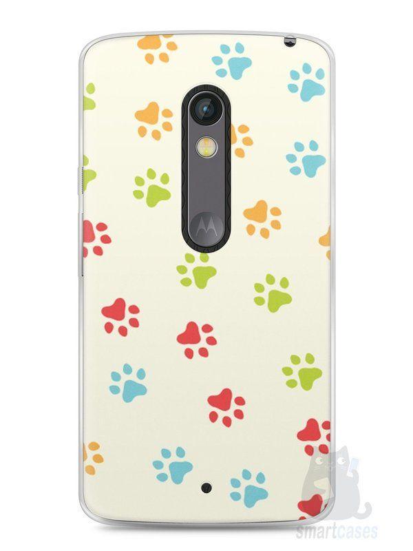 Capa Capinha Moto X Play Patinhas Coloridas #2 - SmartCases - Acessórios para celulares e tablets :)