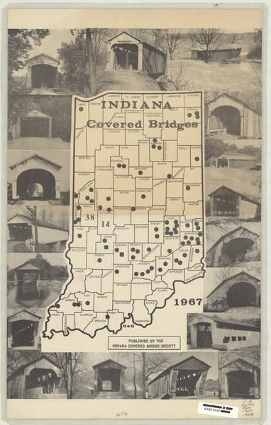 Covered bridges of Indiana MAP! 1967