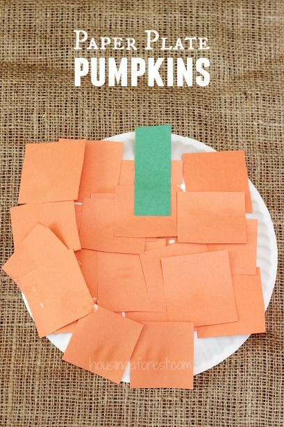 5 Minute Paper Plate Pumpkin Kids Halloween CraftsKids