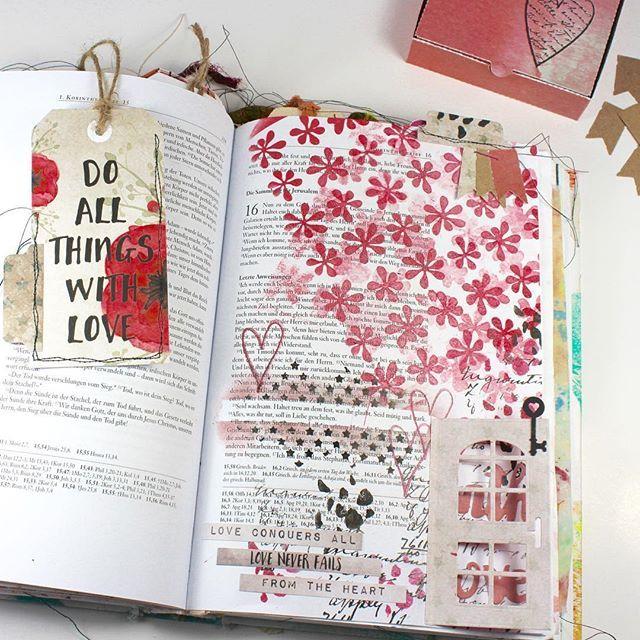 Bible Art Journaling zu 1.Korinther 16,13+14