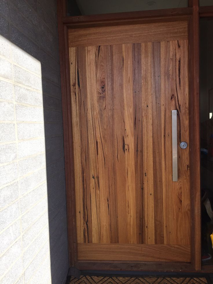 Solid recycled Messmate front door by Bombora Custom Furniture.  #customtimberdoor #solidtimberdoor #recycledtimberdoor  http://www.bomboracustomfurniture.com.au/furniture