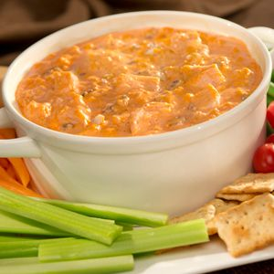 FRANK'S® REDHOT® BUFFALO CHICKEN DIP - I use ranch salad dressing rather than blue cheese, Buffalo Wing Sauce and the Slow Cooker Method. Then I like to serve it with Nabisco's Original, Chicken in a Biskit crackers.