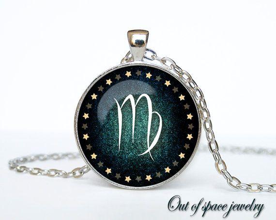 Virgo Necklace Virgo Pendant Virgo jewelry Zodiac Sign