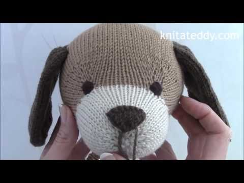Embroidering teddy nose (right-handed) | Kristi Tullus - YouTube