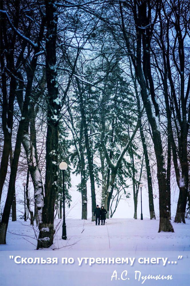 Скользя по утреннему снегу... А.С.Пушкин