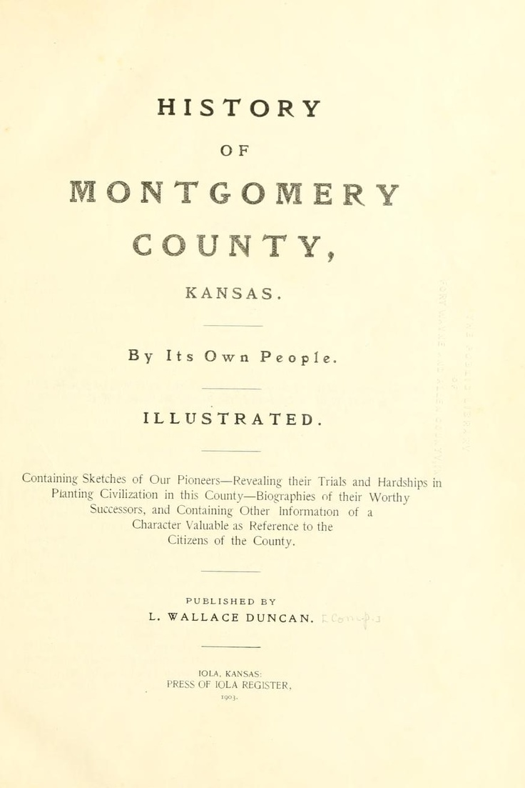 Kansas dickinson county solomon - History Of Montgomery County Kansas Read Online At Open Library