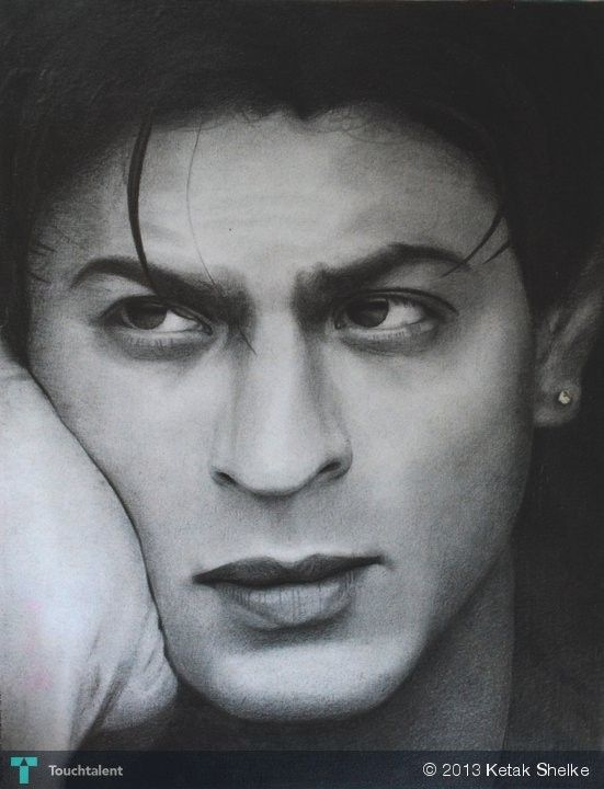 Shahrukh Khan (pencil Shading) in Sketching by Ketak Shelke