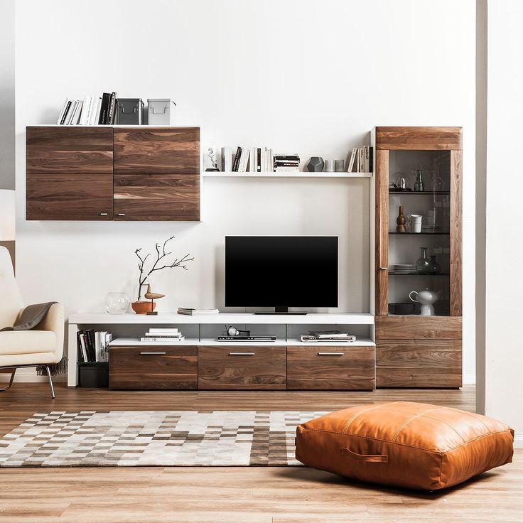 25+ best ideas about wohnwand nussbaum on pinterest - Wohnzimmer Nussbaum Weis