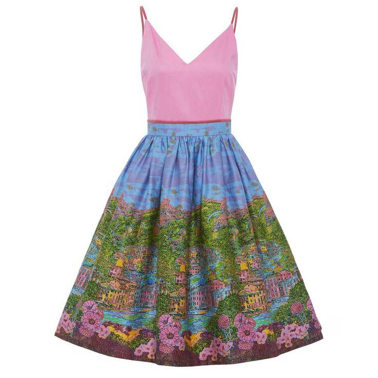Lindy Bop Swing Honor jurk met riviera print multicolours - Vintage, 5