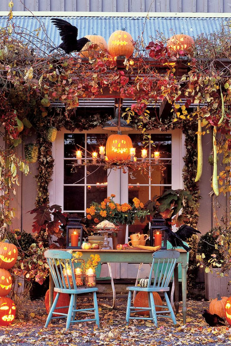 Amazing Halloween wonderland garden set up