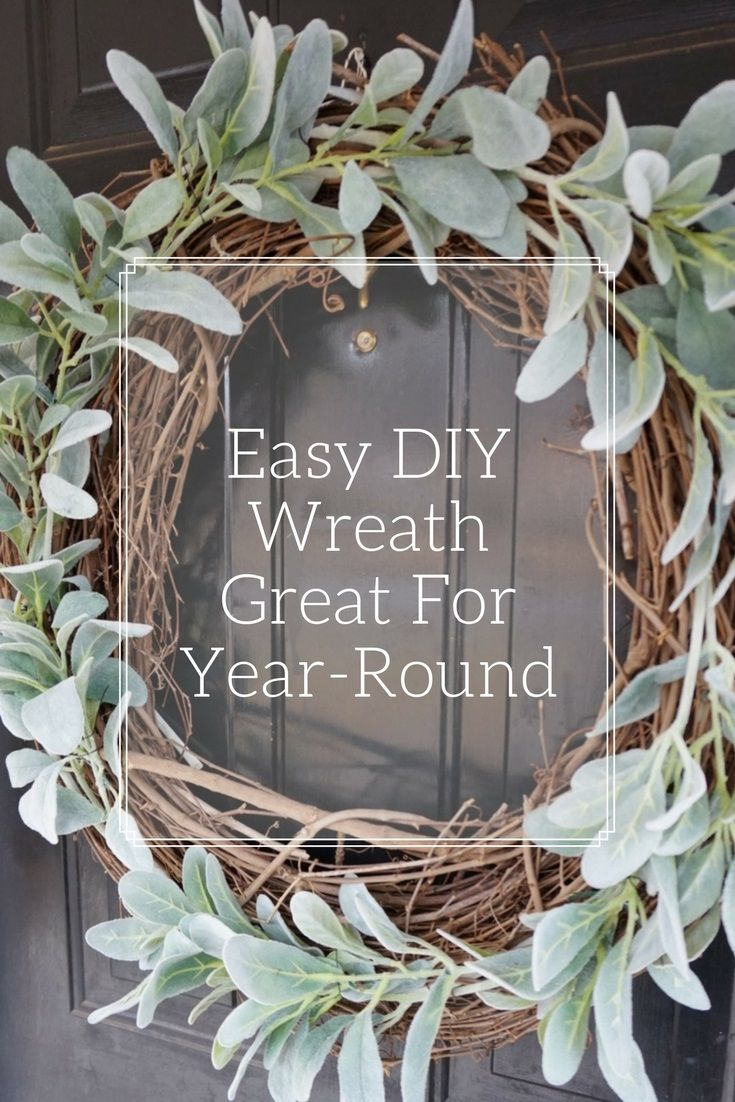 Don't pay an arm and a leg for a wreath when you can make this easy DIY wreath perfect for year-round!